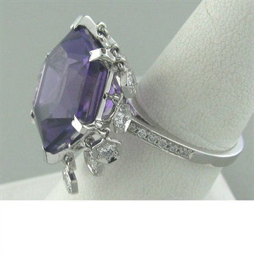 image of Piaget Magic Gardens 18k Gold Amethyst Diamond Ring