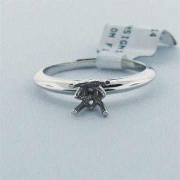 image of New Hearts on Fire 18k Gold Solitaire Engagement Ring Setting