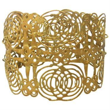 thumbnail image of Judy Geib 18k Gold Wide Bracelet