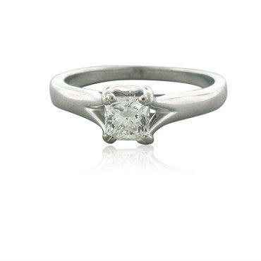 image of New Hearts On Fire Seduction Solitaire 0.47ct Diamond Engagement Ring