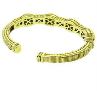 thumbnail image of Judith Ripka Gold Diamond Cuff Bracelet