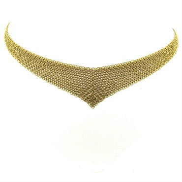 image of Tiffany & Co. Elsa Peretti 18k Gold Mesh Necklace