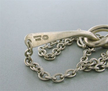 image of Estate Georg Jensen Sterling Silver Choker Necklace A51C