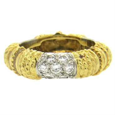 image of 1970s Tiffany & Co. Diamond 18k Gold Band Ring