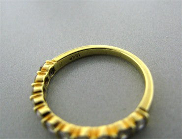 image of Estate Tiffany & Co 18k Yellow Gold Diamond Band Ring