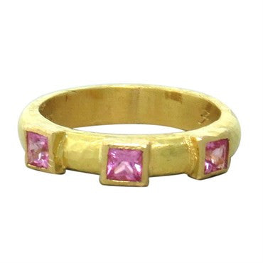 thumbnail image of Elizabeth Locke 19k Gold Pink Tourmaline Ring