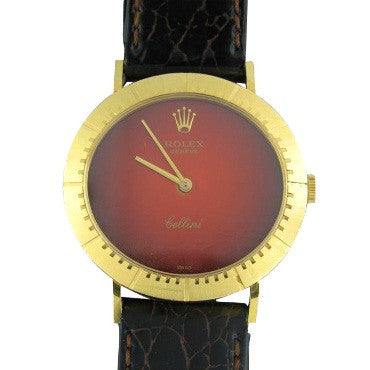 image of Vintage 1970's Rolex Cellini 18k Gold Mens Watch