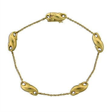 image of Estate Tiffany & Co Elsa Peretti 18K Yellow Gold Bracelet