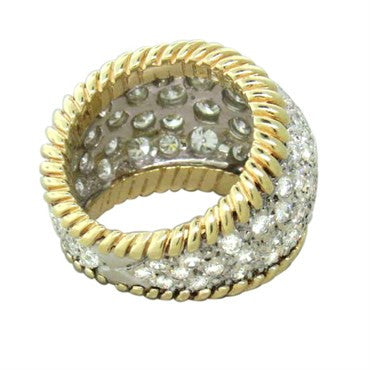 thumbnail image of 1970s 18k Gold 4.00ctw Diamond Dome Ring