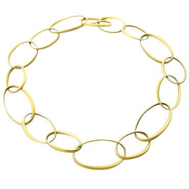 image of New Pomellato Victoria 18k Gold Link Necklace