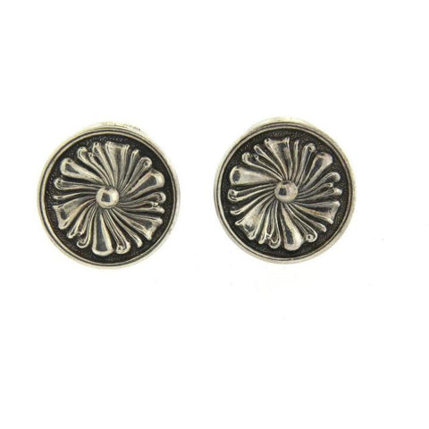 Buccellati Sterling Silver Large Cufflinks