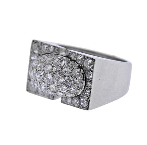 image of Art Deco Diamond Platinum Ring