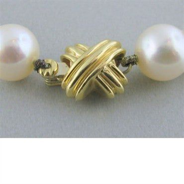 thumbnail image of Tiffany & Co Signature 18k Gold 8.4mm Pearl Necklace
