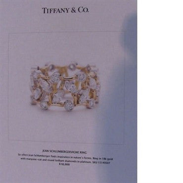 thumbnail image of Tiffany & Co Schlumberger Vigne 2.65ctw Diamond Ring