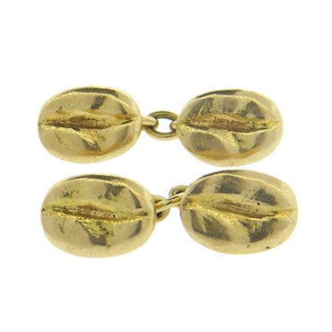 image of 14k Gold Coffee Bean Cufflinks