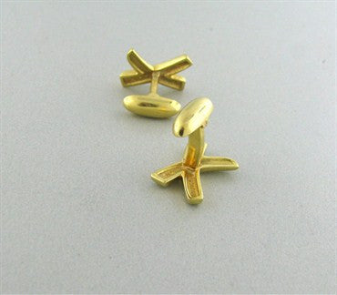 thumbnail image of Tiffany & Co Paloma Picasso 18K Gold X Cufflinks