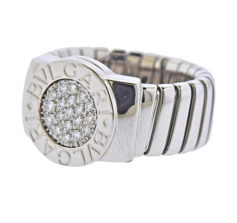 image of Bulgari Gold Diamond Ring