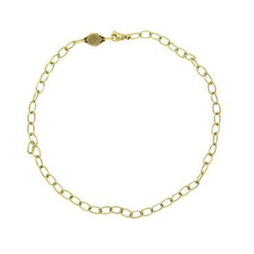 image of Faberge 18k Yellow Gold Oval Link Chain Necklace Limited Edition