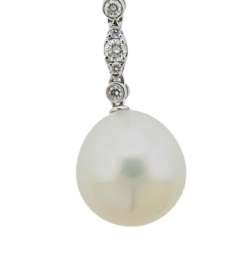 thumbnail image of Assael South Sea Pearl Diamond Gold Pendant Necklace