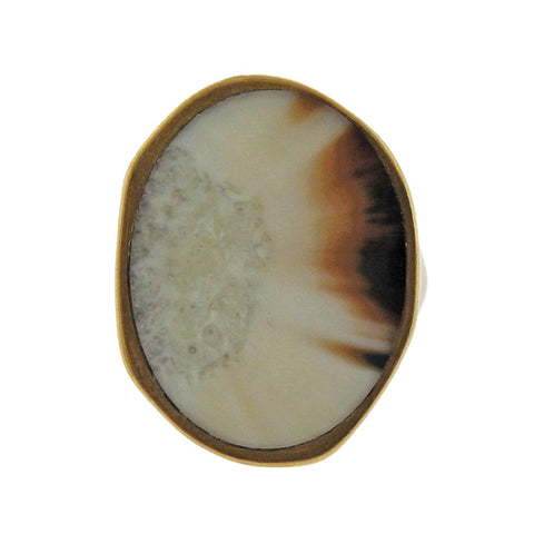image of Monique Pean Gold Fossilized Ring