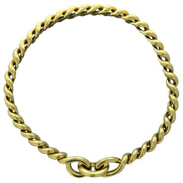 thumbnail image of Hermes Torsade Gold Chain Link Necklace