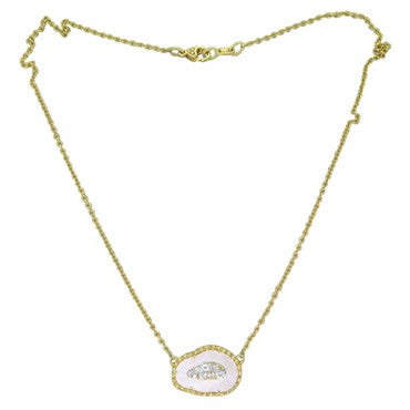 thumbnail image of Judith Ripka 18K Gold MOP Gem Set Necklace