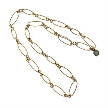 thumbnail image of New Pomellato Arabesque 18k Gold Link Necklace