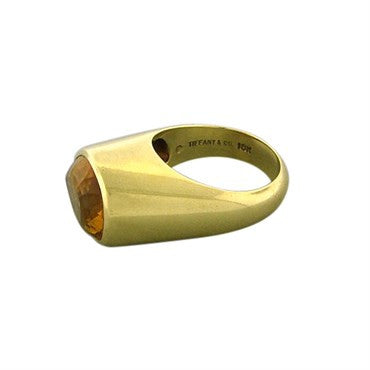 thumbnail image of Tiffany & Co Paloma Picasso 18K Yellow Gold Pear Shaped Citrine Ring