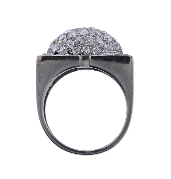 thumbnail image of Art Deco Diamond Platinum Ring