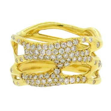 thumbnail image of Ippolita Glamazon Diamond 18k Gold Band Ring