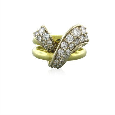 thumbnail image of Estate Jose Hess 18k Yellow Gold 1.45ctw Diamond Ring