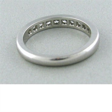 thumbnail image of Estate Tiffany & Co Platinum Diamond Wedding Band Ring