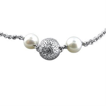 image of New Paul Morelli 18k Gold Pearl Diamond Necklace