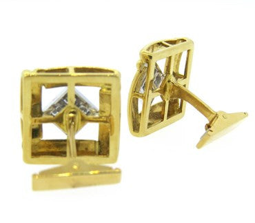 thumbnail image of Diamond and Gold Cufflinks