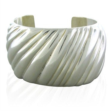 image of Estate Tiffany & Co Sterling Silver Wide Cuff Bracelet