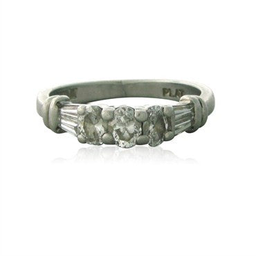 image of Estate Scott Kay Platinum Diamond Ring
