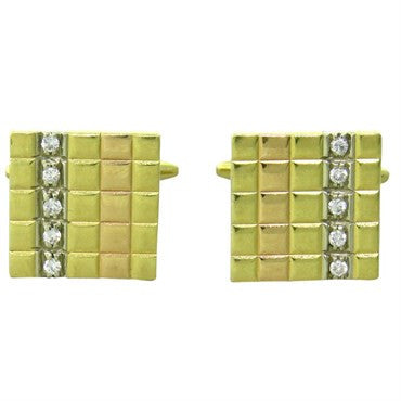 image of Chimento Diamond 18K Gold Square Cufflinks