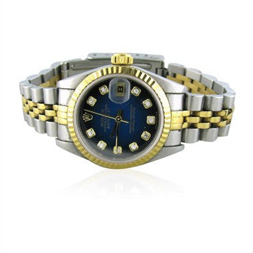 thumbnail image of Rolex Datejust Stainless 18K Diamond Ladies Watch 79173