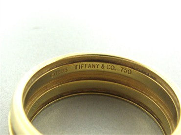 thumbnail image of Tiffany & Co Atlas Collection 18K Yellow Gold 9mm Band Ring