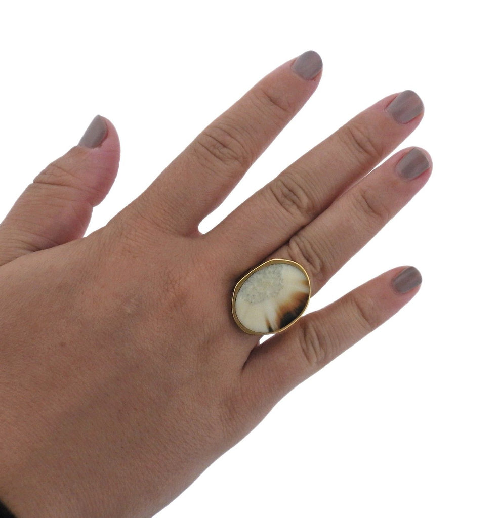 thumbnail image of Monique Pean Gold Fossilized Ring