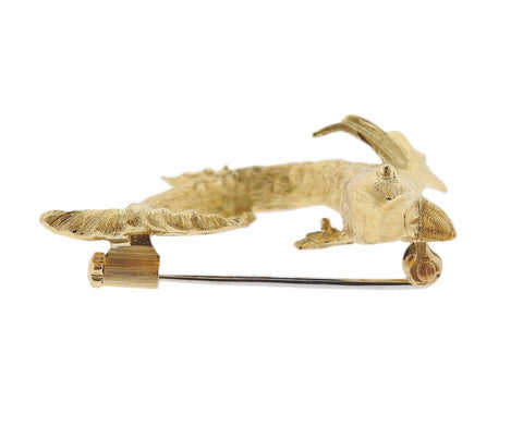image of Buccellati Fish Gold Brooch Pin