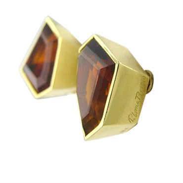 thumbnail image of Vintage Tiffany & Co Picasso 18k Gold Citrine Earrings
