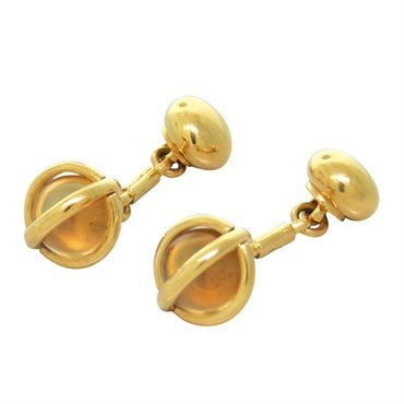 image of Pomellato Citrine 18k Gold Cufflinks