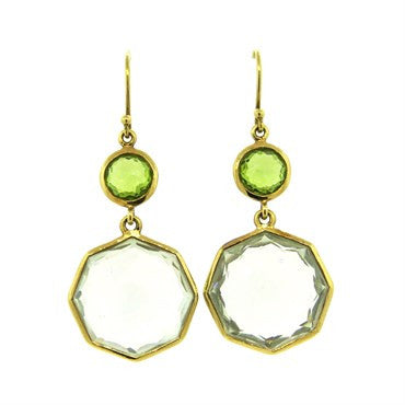 thumbnail image of Ippolita 18k Gold Rock Candy Gemstone Drop Earrings