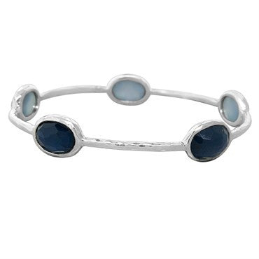 image of New Ippolita Sterling Silver Wonderland Quartz Bangle Bracelet