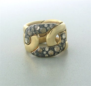 thumbnail image of Pomellato Tango 18K Gold Diamond Wide Band Ring