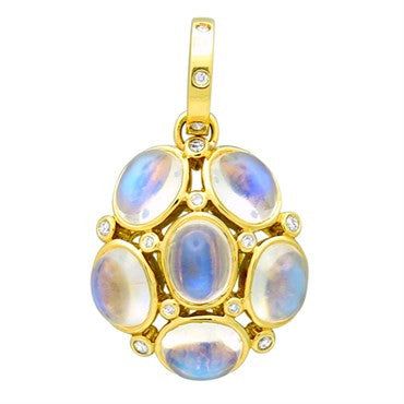 image of Temple St. Clair 18k Gold 13.50ct Moonstone Diamond Nirvana Pendant
