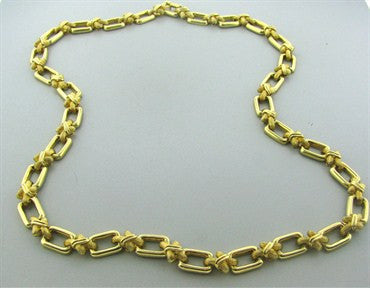 thumbnail image of Estate Vintage Henry Dunay 18k Yellow Gold Necklace 145.9g