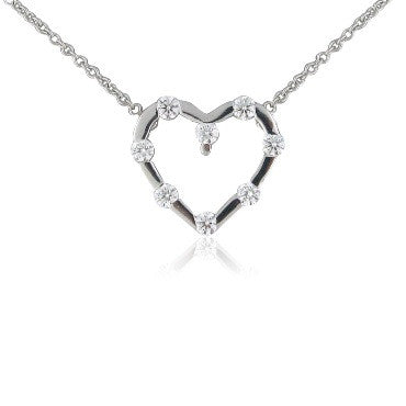 image of Hearts On Fire Amorous Floating Heart Diamond Necklace