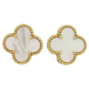 image of Van Cleef & Arpels Special Edition Mother of Pearl Alhambra Earrings